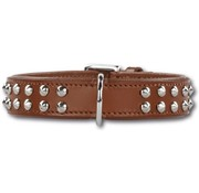 Doxtasy Dog Collar Stunning Studs Brown