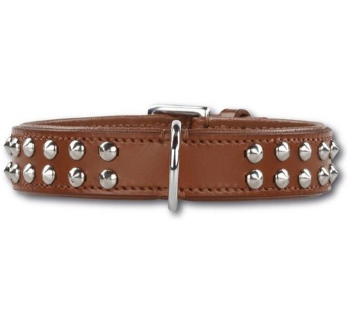 Doxtasy Dog Collar Stunning Studs Brown