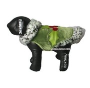 Doxtasy Dog Coat Holiday Green