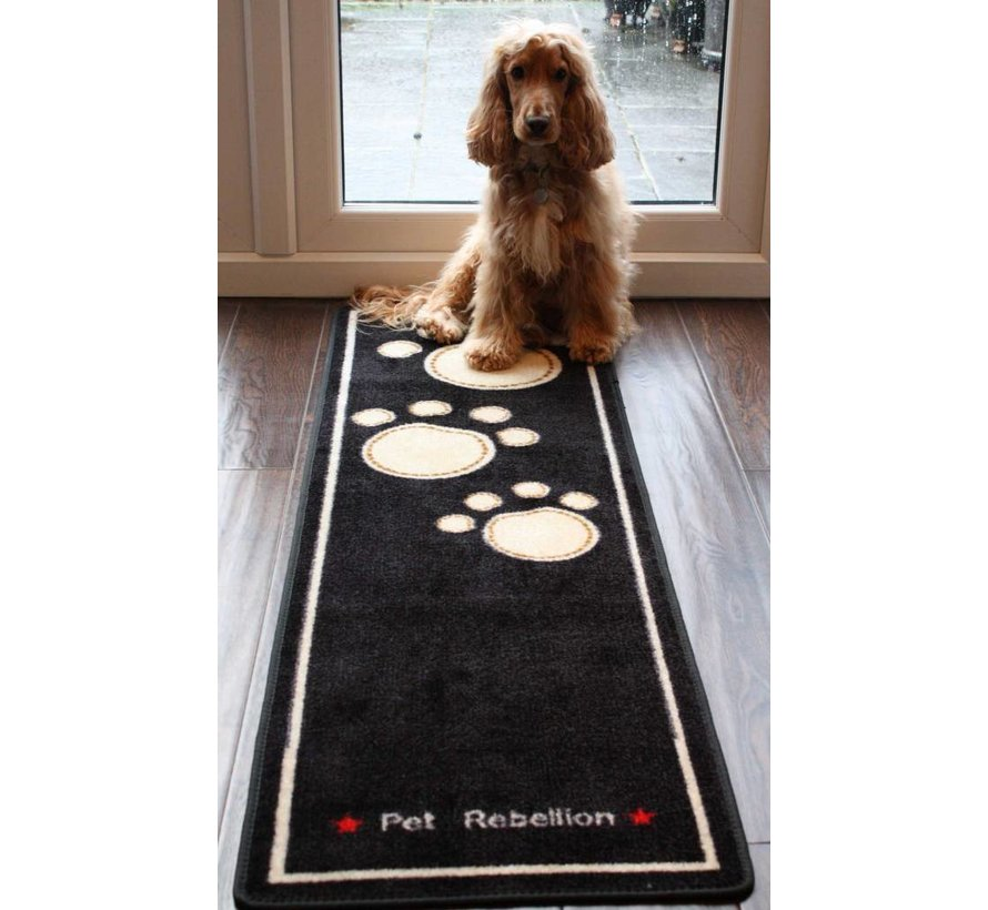 Droogloopmat Dog Runner zwart