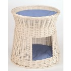 Silvio Design Round White Wicker Cat Bed