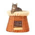 Silvio Design Round Brown Wicker Cat Bed