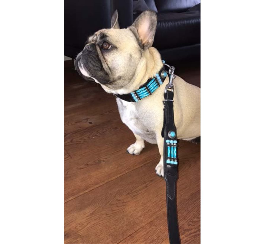 Dog Collar Blue River 35mm