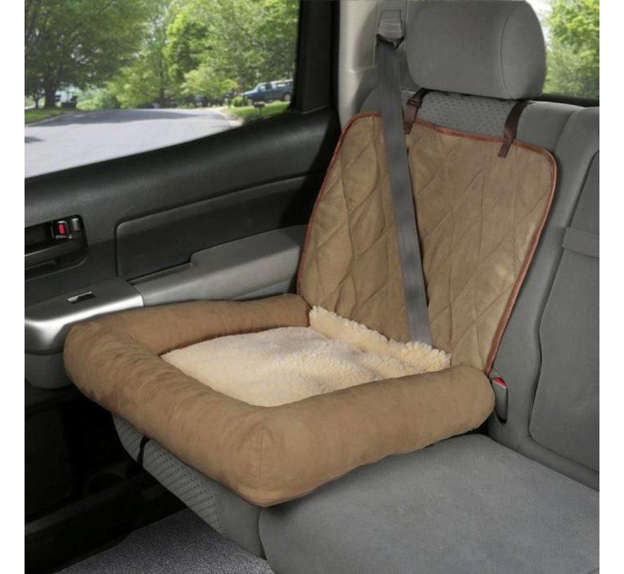 Dog seat Car Cuddler Brown