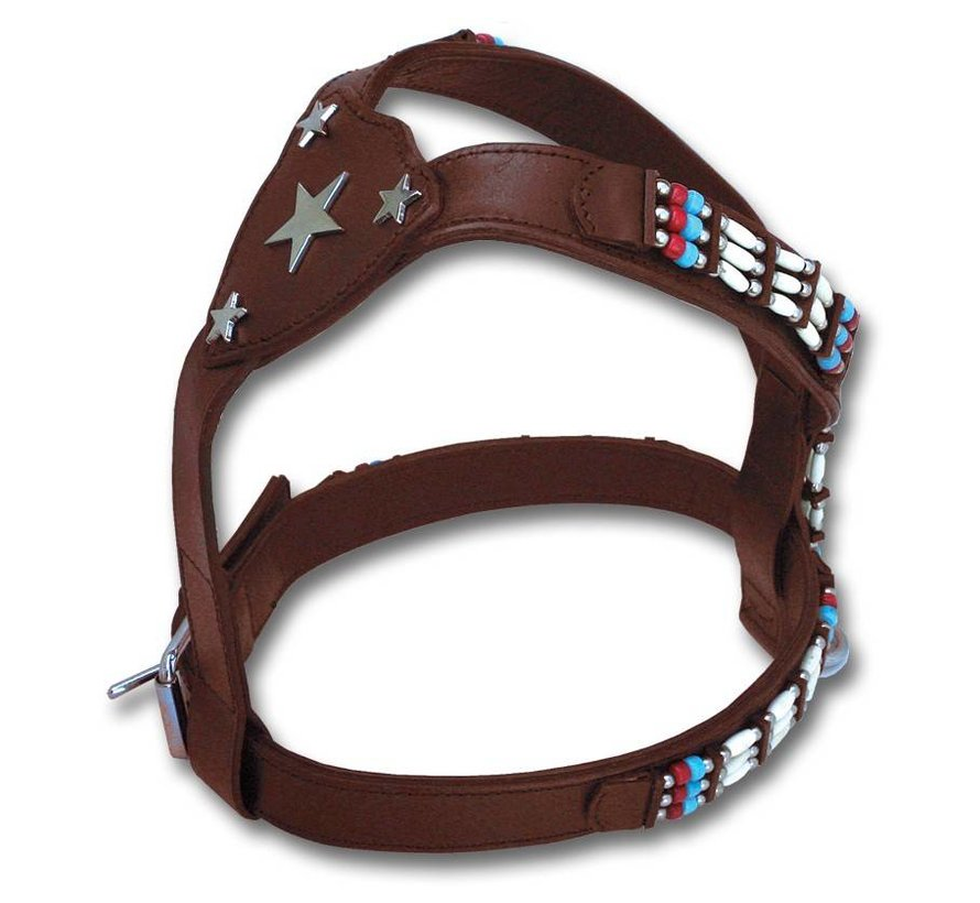 Dog Harness Cheyenne Star in the Sky Brown