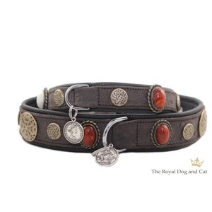 The Royal Cat and Dog Dog Collar Hermes Brown