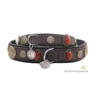 The Royal Cat and Dog Dog Collar Hermes Brown