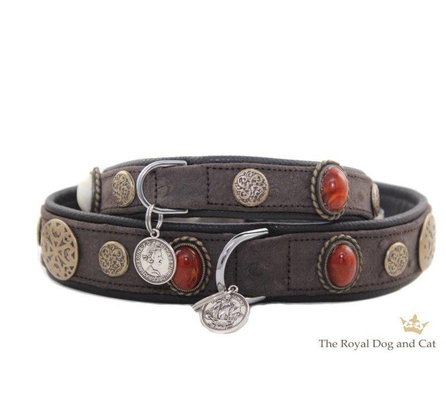 Dog Collar Hermes Brown
