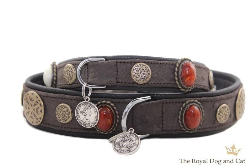 Hondenhalsband Hermes Bruin