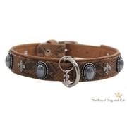 The Royal Cat and Dog Dog Collar Bonaparte Cognac