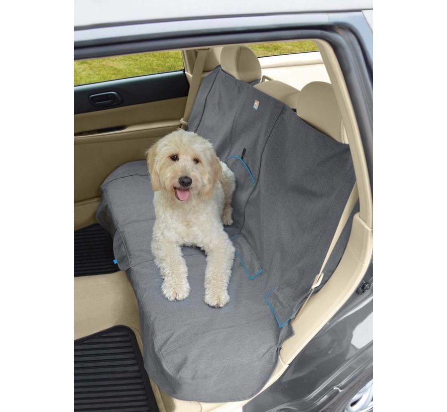 Dog blanket for the back seat Grey