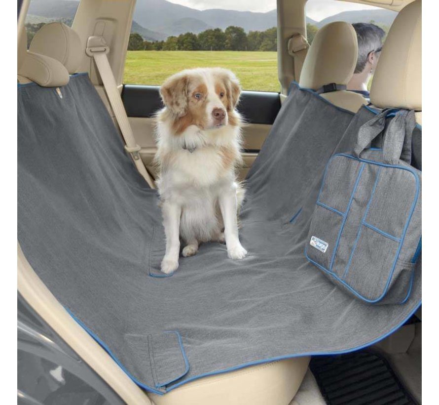 Dog blanket for the back seat Hammock Grey