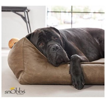 snObbs Dog Bed Buffalo Cowboys Brown