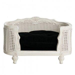 Lord Lou Dog Bed Arthur Black Velvet White Frame