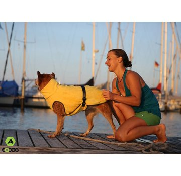 EQDOG Dog Bathrobe Doggy Dry Yellow