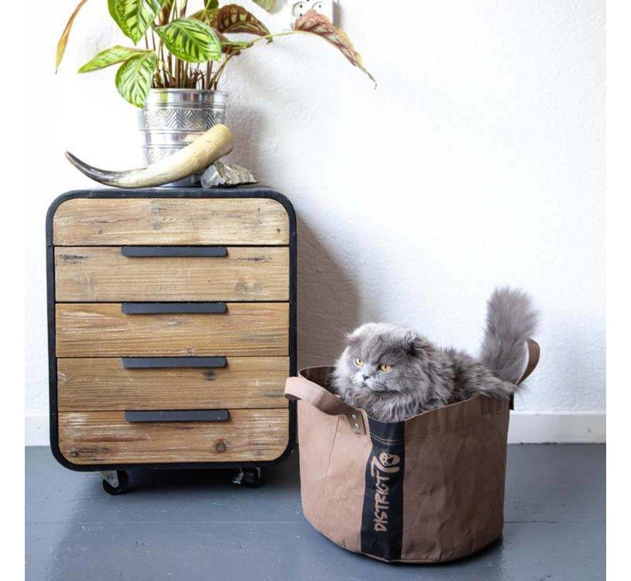 Cat Bed Paper Brown