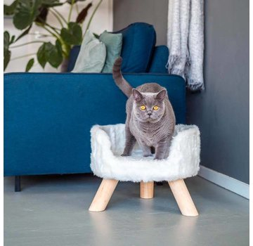 District70 Cat Bed Nordic White