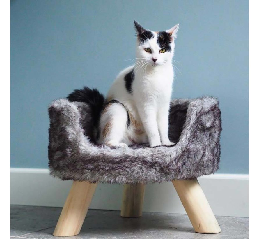 Cat Bed Nordic Silver