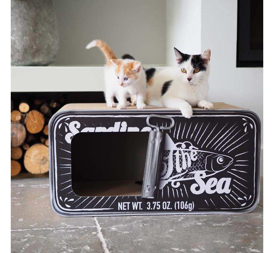 Cat Scratcher Sardine Black