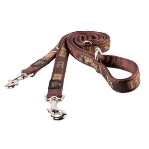 Rogz Dog Leash Multi Purpose Mocha Bone