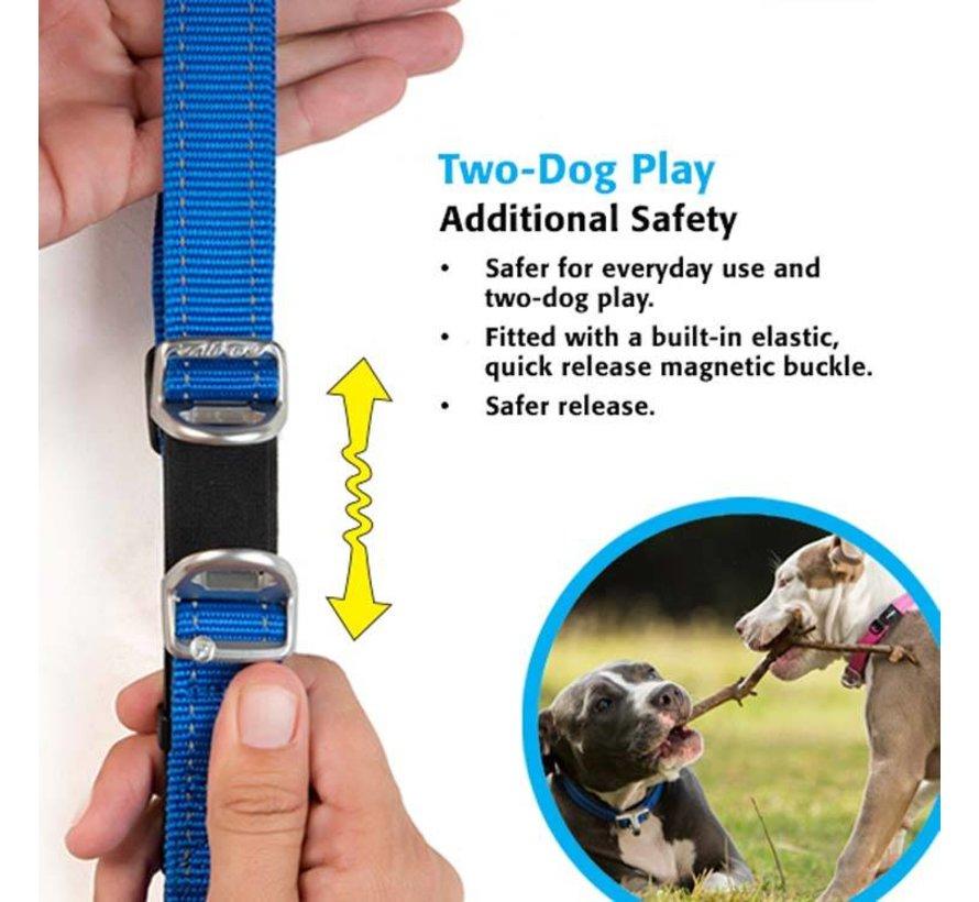 Hondenhalsband Safety Geel
