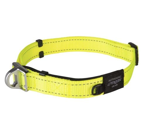 Rogz Hondenhalsband Safety Geel