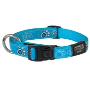Rogz Dog Collar Turquoise Paws