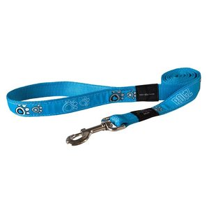 Rogz Dog Leash Turquoise Paws