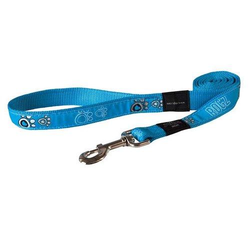 Rogz Dog Leash Turquoise Paws