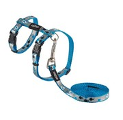 Rogz Cat Harness Reflectocat Blue Fish