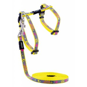 Rogz Cat Harness Reflectocat Dayglo Bird