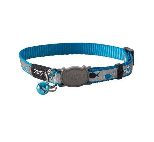 Rogz Cat Collar Reflectocat Blue Fish