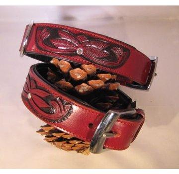 Heim Hondenhalsband Savanne Bordeaux