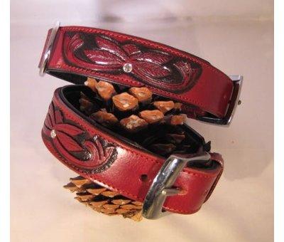 Heim Dog Collar Savannah Burgundy