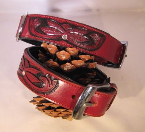 Hondenhalsband Savanne Bordeaux