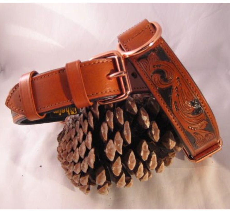Dog Collar Savanne Cognac