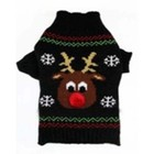 Wagytail Dog Sweater Black Reindeer