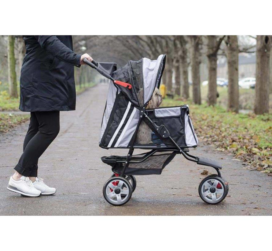 Pet Stroller All Terrain Black-Silver