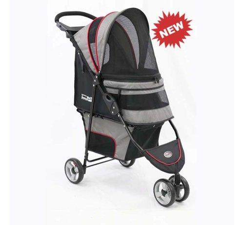 Innopet Pet Stroller Avenue Gray / Red