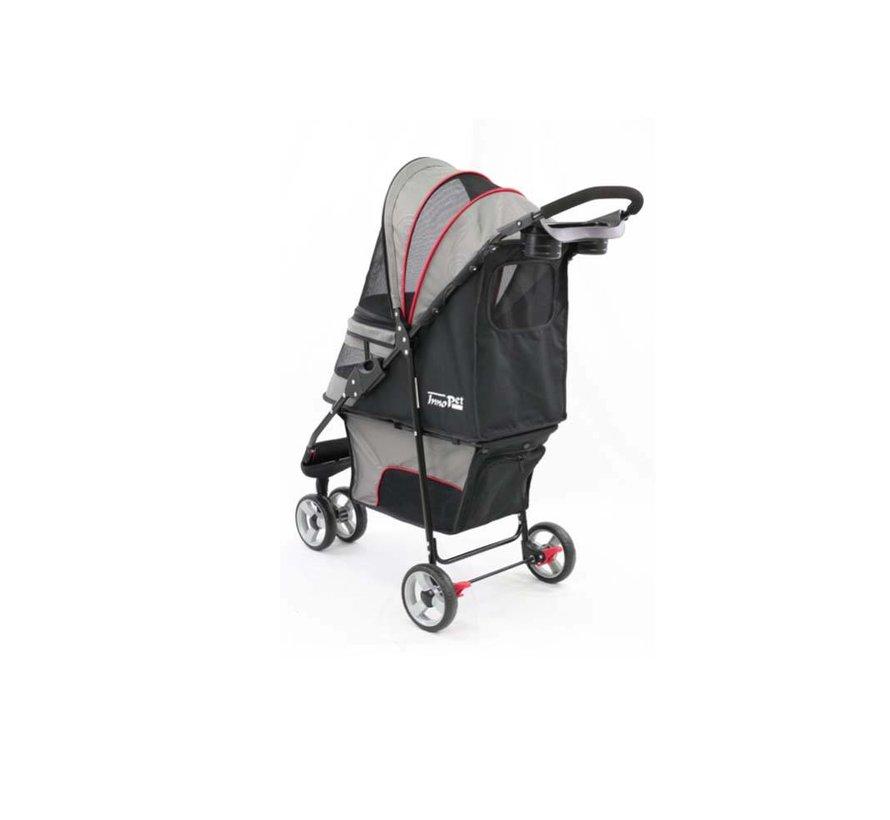 Pet Stroller Avenue Gray / Red
