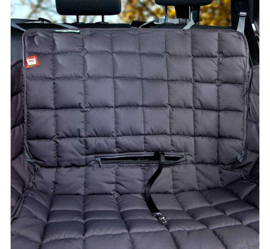 Dog blanket for the back seat - two seats grey