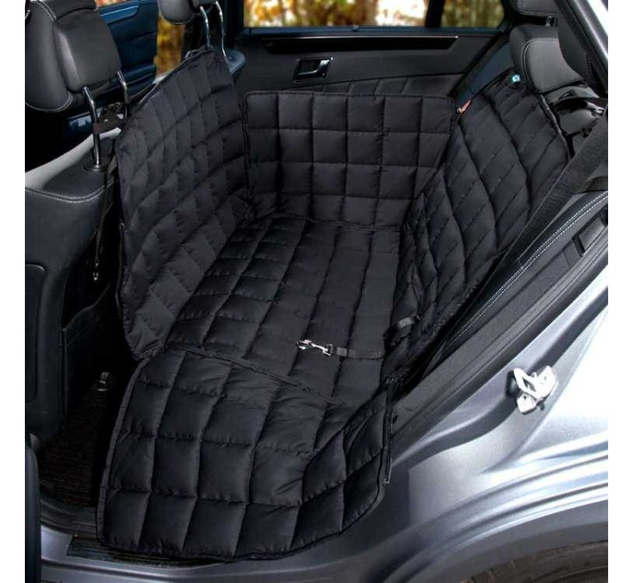 Dog blanket for the back seat - two seats Black