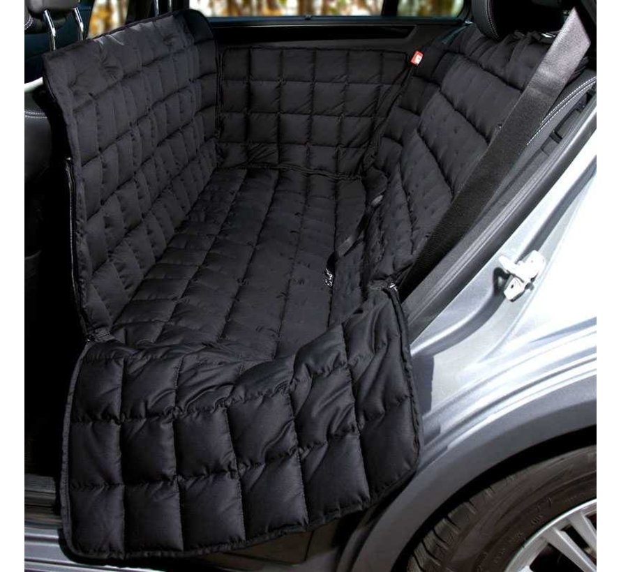 Dog blanket for the back seat - 3 seats Black