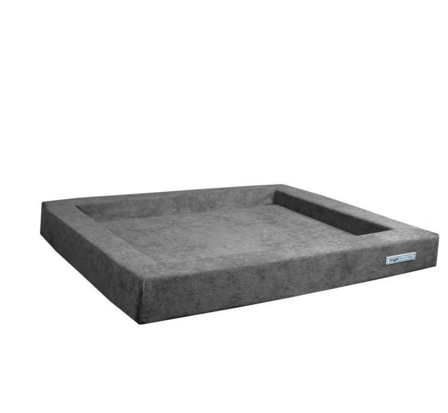 Dog Bed Relax Supersoft Grey