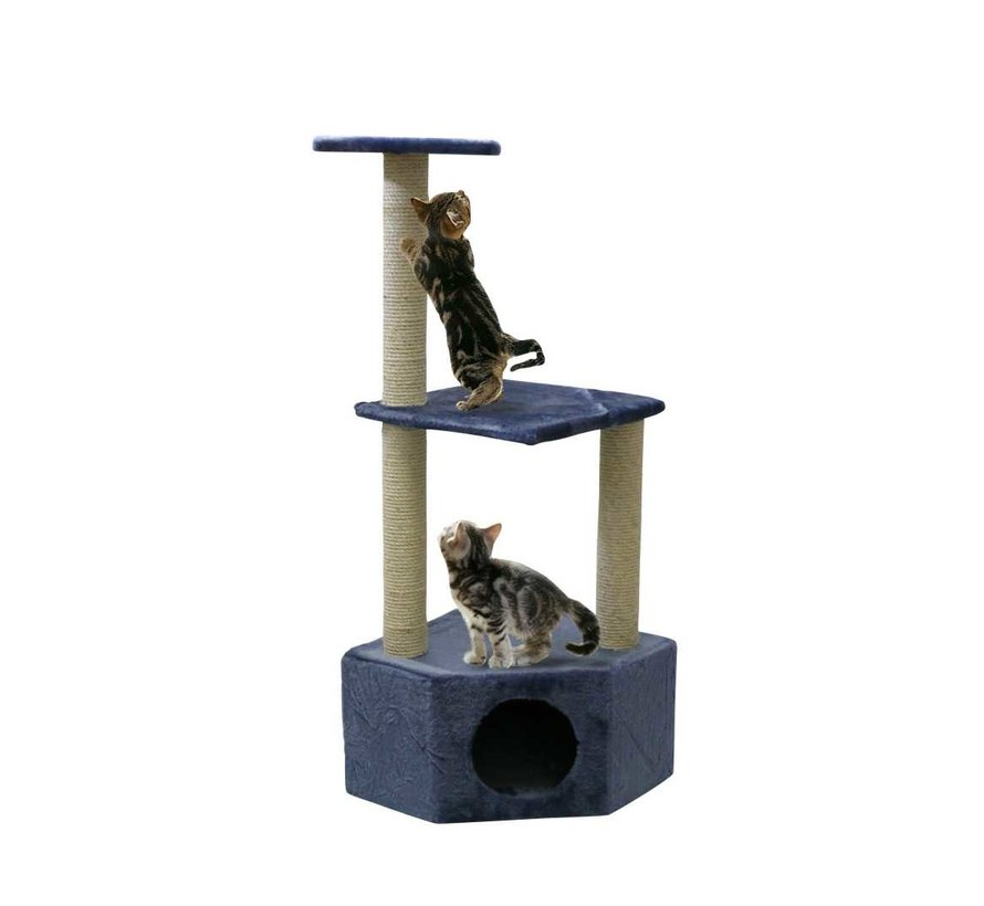 Corner Cat Tree Boy Blue