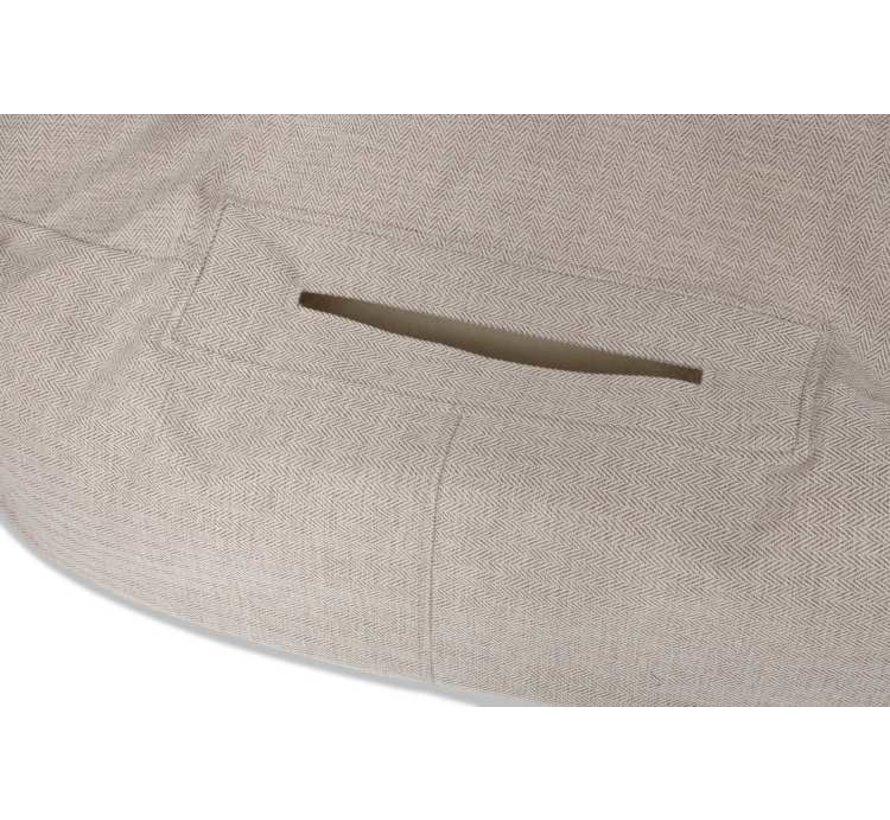 Hondenmand  Snuggle Cave Bed Cream Herringbone