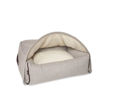 KONA CAVE Snuggle Cave Bed Cream Herringbone