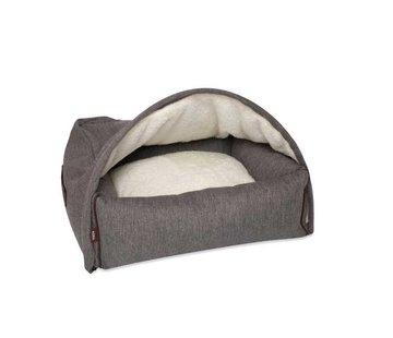 KONA CAVE Hondenmand  Snuggle Cave Bed Grey Herringbone