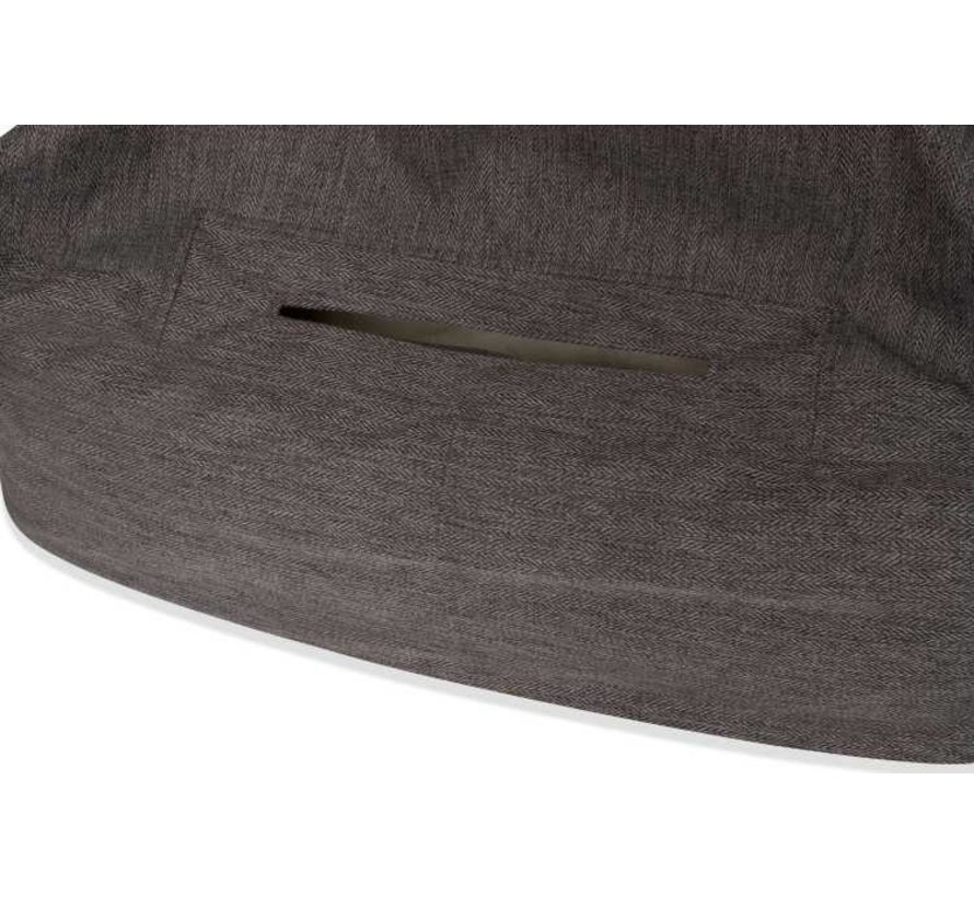Snuggle Cave Bed Grey Herringbone