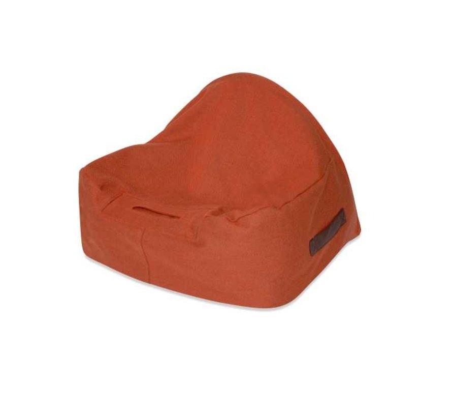 Hondenmand  Snuggle Cave Bed Orange Herringbone